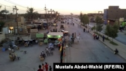 The outskirts of Karbala on July 6, with small numbers of pilgrims gathered