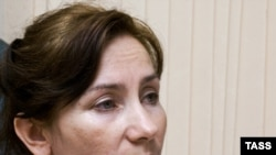 Russian journalist and staff member of the Chechen branch of the Memorial human rights center, Natalya Estemirova, in 2007