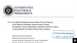 Document Autoritatea Electorală Permanentă