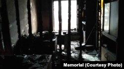 Пожар во седиштето на Меморијал во Назран, Северен Кавказ