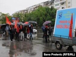 Prvomajski protesti u organizaciji Unije slobodnih sindikata, Podgorica, 2011.