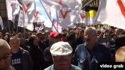 Protest la Moscova, în mai, marcând cinci ani de la manifestațiile din Piața Bolotnaia, 2017