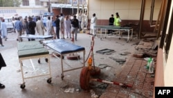 One of the Karachi blasts targeted a hospital.