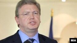 Комесарот за проширување на Европската унија Штефан Филе