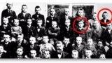 Школьная фотография, на которой запечатлены Витгенштейн и Гитлер
