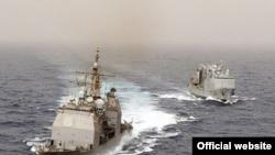 Američki ratni brod Ancio koji nosi navodeće projektile