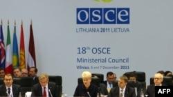 Президент Литви Даля Ґрібаускайте на Вільнюському форумі ОБСЄ, 6 грудня 2011 року
