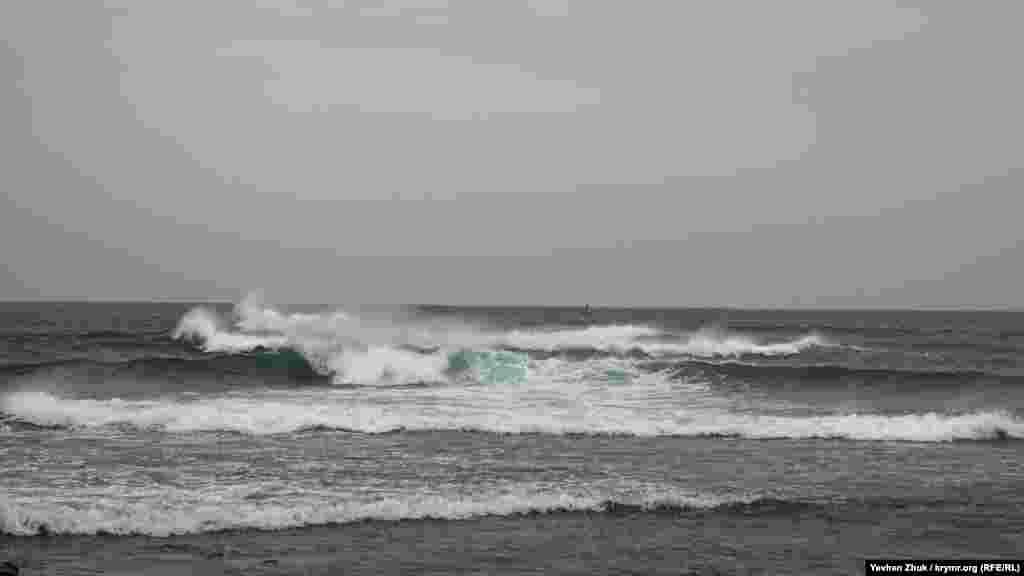 Горожане любуются морской стихией