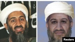 """U.S. - An """"age progressed"""" combination photo of Osama Bin Laden (Usama bin Ladin) provided by the U.S. Department of State and the FBI on 15Jan2010."""
