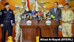 رئيس أركان الجيش ومحافظ كركوك وقيادات أمنية في مؤتمر صحفي