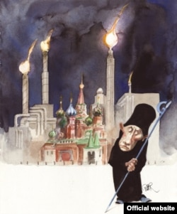 Карыкатура Рыбера Гансана са Стакгольму, якая атрымала другое месца на конкурсе