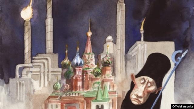 """Фрагмент карикатуры Рибера Ханссона (Швеция), хорошо известного в мире карикатуриста, который с 2007 года несколько раз выигрывал конкурс World Press Cartoon и занял второе место в конкурсе """"Дьявольская бензоколонка"""""""