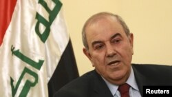 Head of the Al-Iraqiyah coalition Ayad Allawi