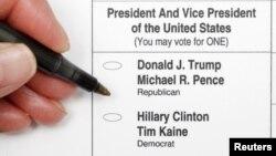 Buletin de vot în Carolina de nord, 20 octombrie 2016