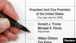 Образец избирательного бюллетеня в Северной Каролине, где началось досрочное голосование