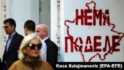 Serbiyada Kosovoya qarşı divar rəsmi
