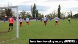 Архивное фото: первая игра ФК «Таврия» на домашнем поле в г. Берислав