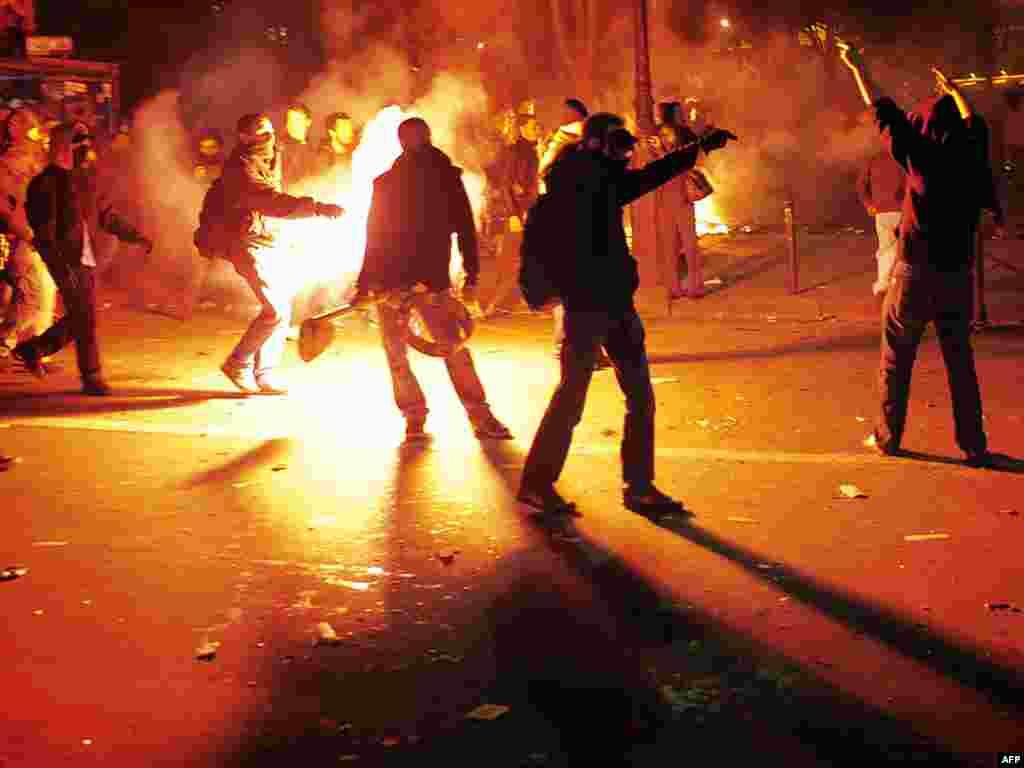 Вторая общенациональная забастовка во Франции закончилась беспорядками