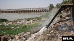 الكوت ـ مياه ثقيلة تصب في نهر دجلة