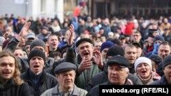 Беларустун Орша шаарында 500дөй адам акцияга чыгышты.