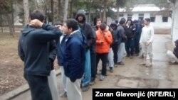 Migrantski centar u Obrenovcu, arhivski snimak