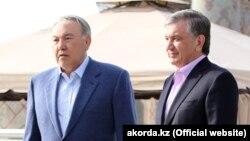 Нурсултан Назарбаев жана Шавкат Мирзиёев, Самарканд шаары, 21-март 2018-жыл.