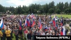 Акция протеста против пенсионной реформы в Томске
