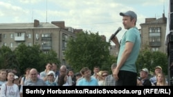 Святослав Вакарчук на встрече с жителями Славянска