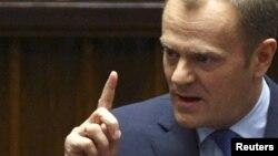 Звітуючи за перші 100 днів свого уряду, прем'єр Польщі чималу увагу приділив Україні