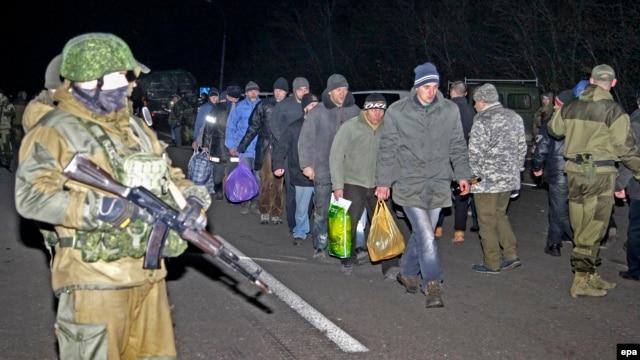 Обмен пленными под Донецком