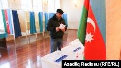 Azerbaijan. Baku. Parliament election in Baku capital of Azerbaijan