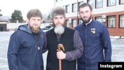 Глава Чечни Рамзан Кадыров, муфтий республики Салах Межиев и спикер парламента Магомед Даудов (слева направо)