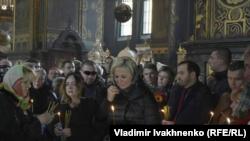 Отпевание экс-депутата Госдумы России Дениса Вороненкова. Киев, 25 марта 2017 года.
