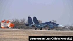 Российская военная авиация в Опукском заповеднике. Январь 2018 года