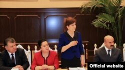 Tajikistan -- Dushanbe, Tajik government members, women, 21 February 2014