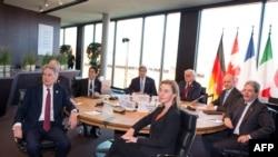 وزیران خارجه گروه موسوم به جی هفت در لوبک، آلمان