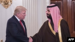 Pamje nga takimi i mbrëmshëm Trump - Salman në Shtëpinë e Bardhë