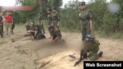 Табір на території окупованої частини Луганщини