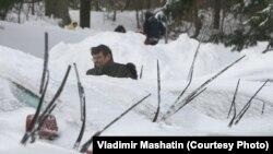 Снегопад в Бостоне
