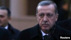Түркия премьер-министрі Режеп Тайып Ердоған. Анкара, 18 желтоқсан 2013 жыл.