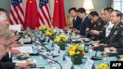 Американо-китайские переговоры. Вашингтон, 21 июня 2017 года.