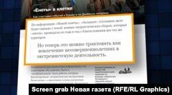 Матеріал російського видання «Новая газета» про «E.N.O.T. Corp»