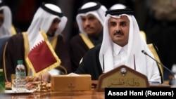 شیخ تمیم بن حمد آل ثانی، امیر قطر، یکی از دو رهبر حاضر در نشست شورای همکاری خلیج فارس بود.