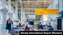 Пассажирский терминал алматинского аэропорта. 1 мая 2020 года.