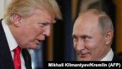 Президент США Дональд Трамп (слева) и президент России Владимир Путин. Дананг (Вьетнам), 11 ноября 2017 года.
