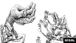 Rusiyada rəssam Mixail Zlatkovskinin karikaturası