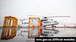 Санітарний вертоліт, фото з сайту МВС України