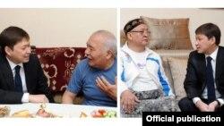 Сапар Исаков, Дүйшөн Байдөбөтов жана Замирбек Сооронбаев.