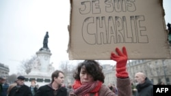 În Piaţa Republicii de la Paris, 7 ianuarie 2015