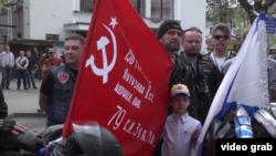 «Нічні вовки» хотіли святкувати 9 травня в Берліні, архівний відеокадр